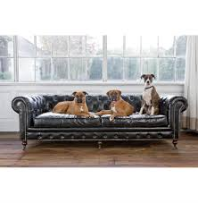 Sofa Size Ace Industrial Loft Black Leather Tufted Deep Seat Sofa Kathy