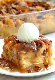 pumpkin pecan bread pudding cakescottage