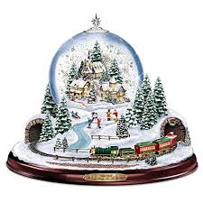kinkade home for the holidays snowglobe lights motion and