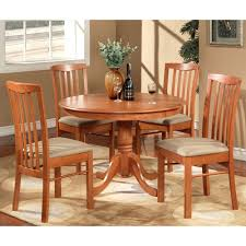 Microfiber Dining Room Chairs East West Furniture Hart Hartland Round Table Dining Set With