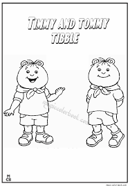arthur coloring pages buster