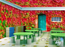 wallpaper for entire wall 3d boston ivy door window entire living room wallpaper wall mural