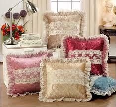 Cheap Sofa Cushions by European Luxurious Velour Home Decor Cushion Decoration Lace