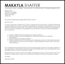 marketing cover letter cover letter sle for marketing position assistant marketing