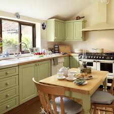 interior decorating kitchen oat color scheme with green pastels for modern kitchen design and