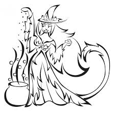wizard accessories little miss witch coloring page scarlet pages
