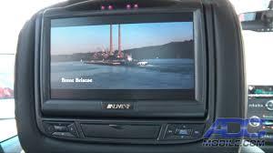 toyota highlander dvd headrest advent advhr7012dd dual dvd headrest system