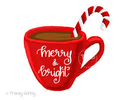 merry and bright cocoa clipart coffee cup clipart