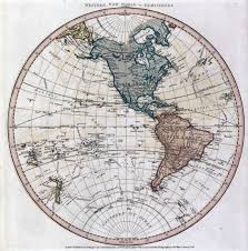 Map Of The Western Hemisphere Large Scale Old Map Of The World Of Western Hemisphere Old Maps