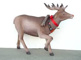 reindeer with decorative belt statue decor
