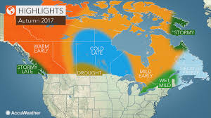 Canada Weather Map Forecast by 2017 Canada Fall Forecast Mild Autumn To Unfold In Eastern