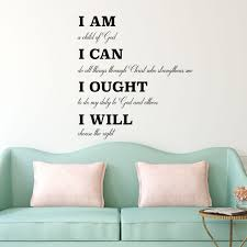 inspirational quotes vinyl wall decals home decor for living room charlotte mason wall decal i am i can i ought i will