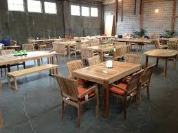 Teak Dining Room Set by Furniture Smith And Hawken Avignon Teak Collection Used Patio