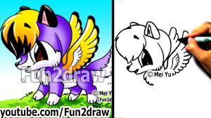 Cute Halloween Pictures To Draw Drawing Tutorials How To Draw A Wolf With Wings Cute Drawings