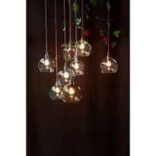 Pendant Light Uk Globe Shaped Glass Pendant Rowan Medium Clear Glass Ceiling Light