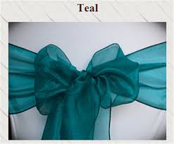 teal chair sashes aliexpress buy 100pcs wedding peacock color organza chair