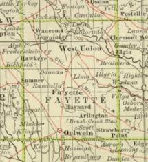 fayette county maps 1897 century atlas of the state of iowa