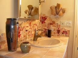 Handmade Tile Mosaic Backsplash Eclectic Bathroom Phoenix - Tile mosaic backsplash
