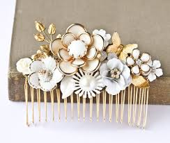 vintage hair combs bridal hair comb vintage wedding hair comb shabby chic bridal