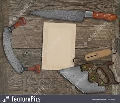 vintage kitchen knives kitchen vintage kitchen knives and utensils collage stock image