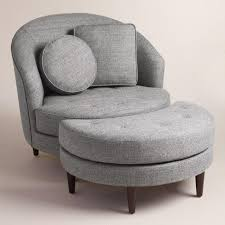 living room chairs and ottomans inspiring gray seren round seating collection world market living