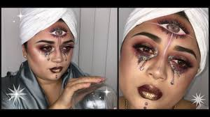 three eyed fortune teller easy halloween makeup youtube
