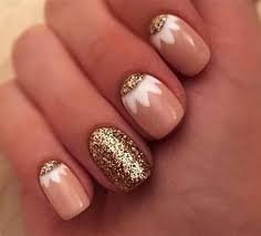 white and gold nail designs u2013 a simple but powerful combo