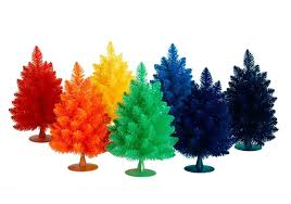 unusual christmas tree colors to brighten your holiday