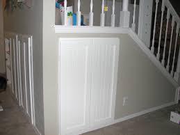 amusing under stairway storage wiyh lovely white design