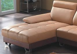 Camel Leather Chair U0026 Brown Bonded Leather 8045 Modern Sectional Sofa