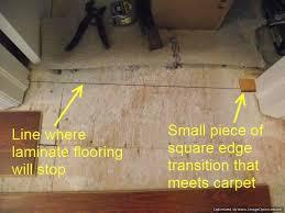 Transition Carpet To Hardwood Where To End Laminate At Doorways