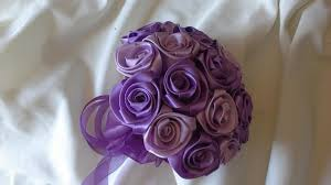 satin roses satin wedding bouquet in orchid and grape wine 2425915