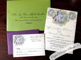 Succulent Wedding Invitations Green And Purple Wedding Invitations Paperinvite