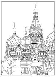 saint basil cathedral red square moscow sofian coloring pages