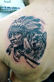 Wolf Indian Tattoos - indian wolf tattoos search tattoos