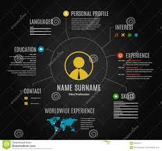 free resume website templates vector dark resume web infographic template stock vector image black dark icons infographic resume template vector web