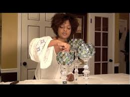 decorative glass candle holders centerpiece e2 part1 youtube