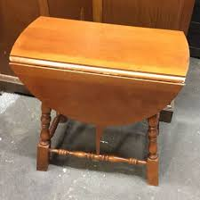 Drop Leaf End Table Cute 1950 Solid Maple Butterfly Drop Leaf End Table Maple