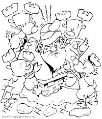 santa stuck chimney christmas color holiday coloring
