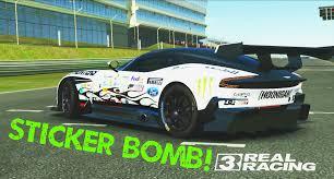 hoonigan sticker bomb real racing 3 aston martin vulcan sticker bomb vinyl mod youtube