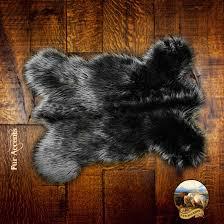 faux fur pelt rug mini mountain bear plush shag luxury fur