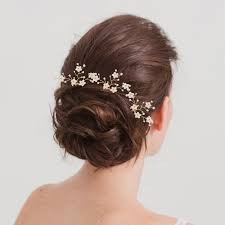 flower hair pins gold flower wedding hair pins x3 britten