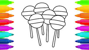 lollipop coloring pages for childrens how to draw candy canes