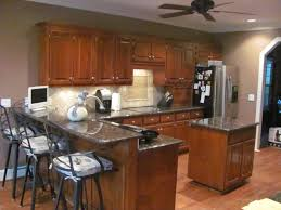 kitchen island with sink and seating solid light oak wood counter