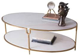 Stone Sofa Table Global Views Iron And Stone Oval Coffee Table Transitional