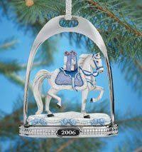 9 2008 breyer carousel ornament peppermint twist porcelain