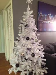 all white christmas tree ne wall