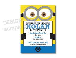 personalized minion birthday invitations personalized minion
