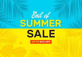 summer sale end of summer sale vector poster free vector stock