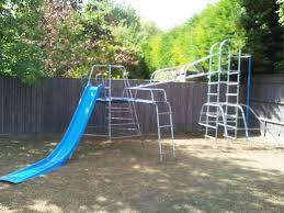 tp climbing frame climbing net platform slide monkey bars